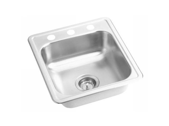 D117193 Dayton Drop In 17 in. x 19 in. Single Basin Kitchen Sink (Stainless  Steel)