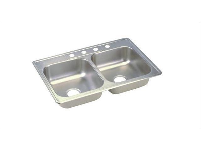 D233194 Dayton Drop In 33 In X 19 In Dual Basin Kitchen Sink Stainless Steel Newegg Com