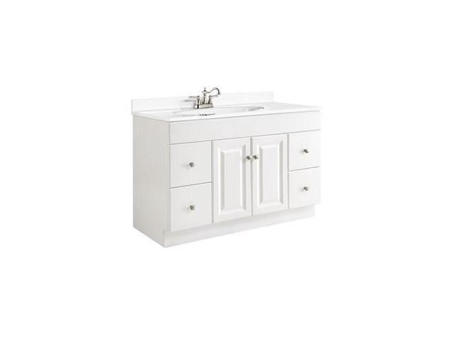 Design House 531145 Wyndham White Semi Gloss Vanity Cabinet With 2