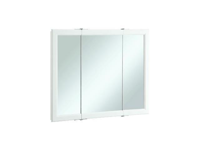 Design House 545103 Wyndham White Semi Gloss Tri View Medicine