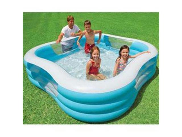 "Intex Swim Center 72/"" x 120/"" Family Backyard Inflatable Kiddie Swimming Pool"