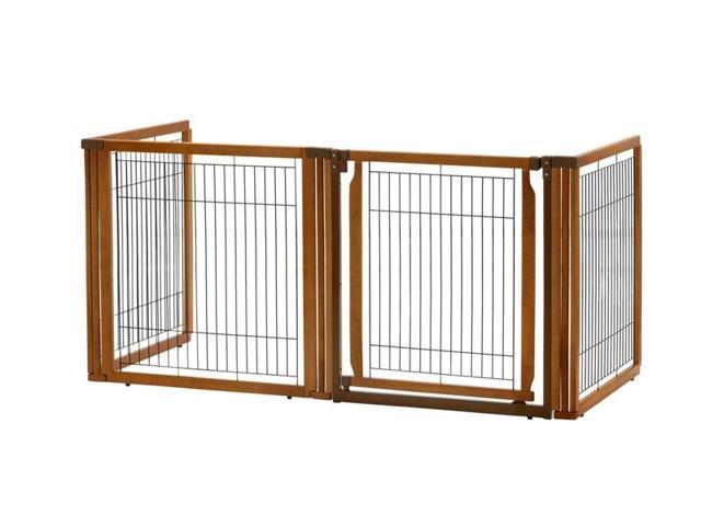 Richell Usa 94198 Convertible Elite Pet Gate H4 Brown