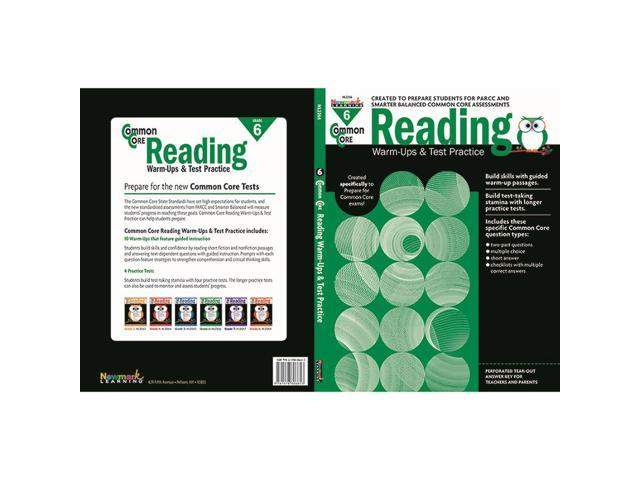 Newmark Learning NL-2266 Common Core Reading Gr 6 Warmups & - Newegg com