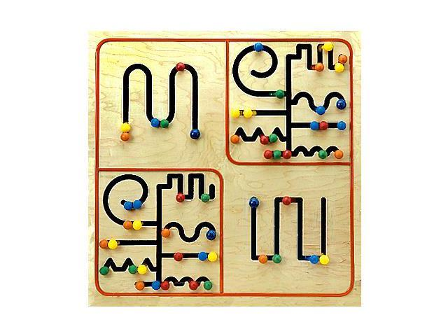 db88b4876d7 Pathfinder Fun And Educational Activity Kids Toys Wall Mounted Wooden Panel