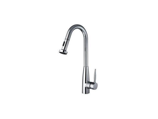 Whitehaus WH2070838 C Jem Collection Single Handle Pull Down Sprayer Kitchen  Faucet In