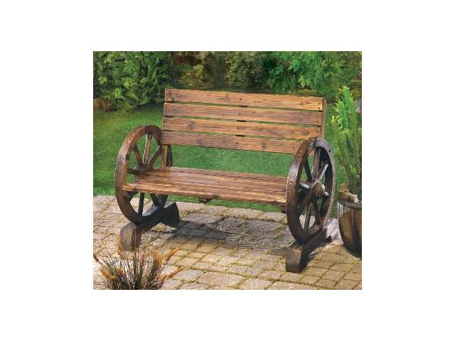 Zingz U0026 Thingz 57070012 Wheels Wood Garden Bench