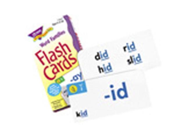 TREND ENTERPRISES T 53014 FLASH CARDS WORD FAMILIES 96 BOX