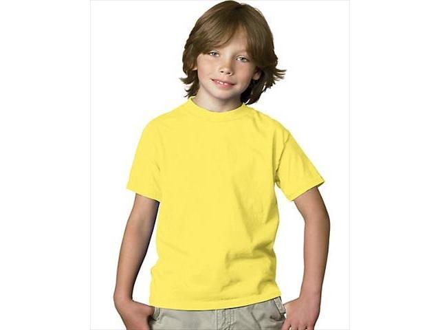 d24ab17bc388 Hanes 5480 Youth Comfortsoft Heavyweight T-Shirt Yellow Extra Small
