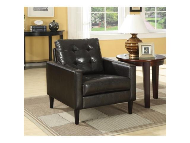 Astonishing Acme Furniture Industry 59046 Balin Accent Chair In Espresso Pu Gmtry Best Dining Table And Chair Ideas Images Gmtryco