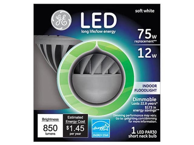 GE Lighting 89988 12W Short Neck PAR30 LED Bulb - Newegg com