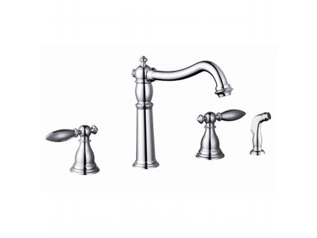Yosemite Home Decor Yp68wskf Pc Two Handle Kitchen Faucet With Side Sprayer Polished Chrome
