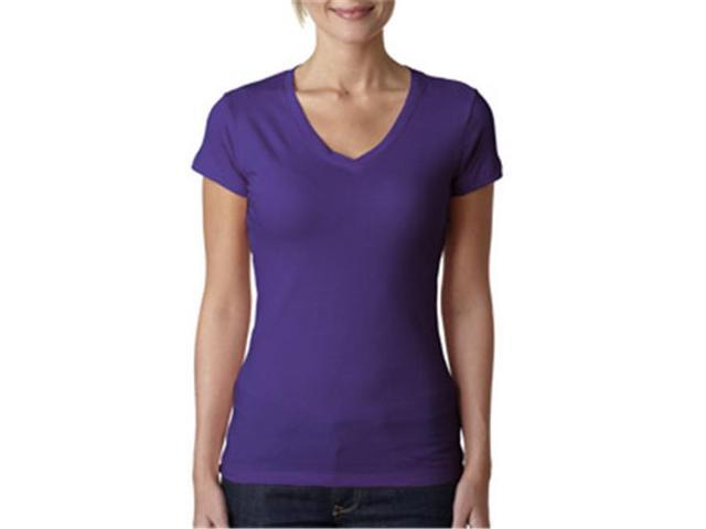 040d953d Next Level Apparel 3400L Ladies Sporty V-Neck T-Shirt, Purple Rush ...