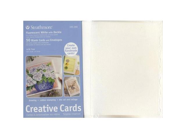 Strathmore St105 630 5 X 6875 Ivory Deckle Creative Cards 100 Pack