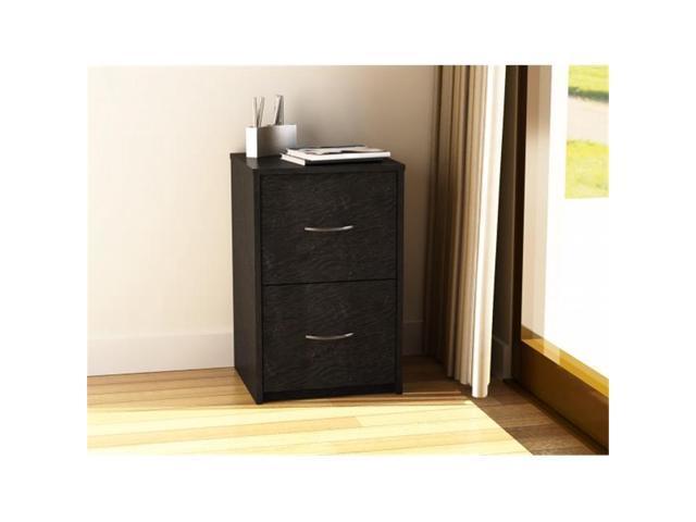 Merveilleux Altra Furniture 9524026PCOM Core 2 Drawer File Cabinet, Black Ebony Ash