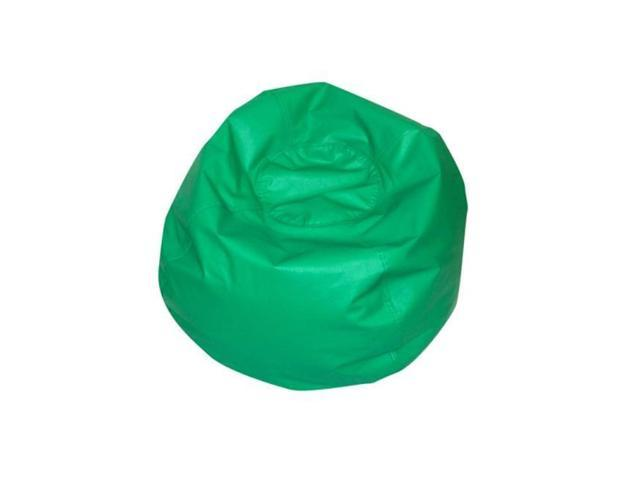 Awesome Childrens Factory Cf 610006 Round Bean Bag 35In Green Newegg Com Alphanode Cool Chair Designs And Ideas Alphanodeonline