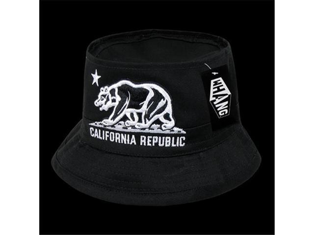 8f0acc9571386 Decky W45-CRB-BLK-07 California Republic Bear Fisherman Hat ...