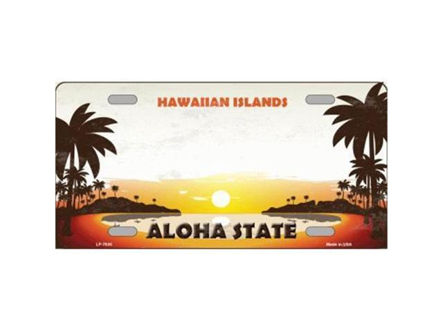Smart Blonde LP 7835 Hawaiian Islands Hawaii Blank State Background Novelty Metal License Plate