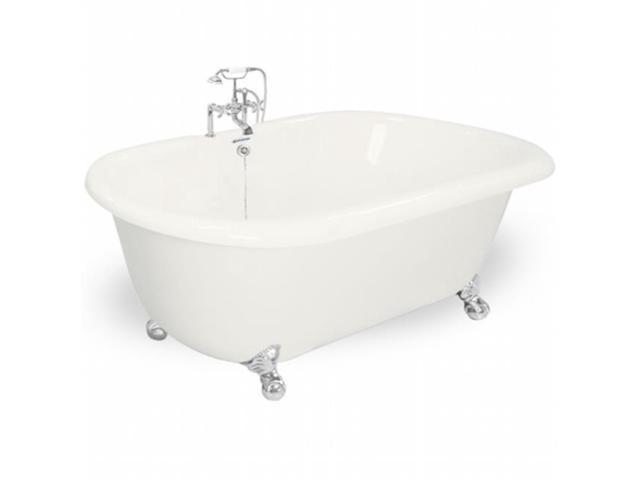 American Bath Factory T080F-CH-B Celine 70 in. Bisque Acrastone Bath ...