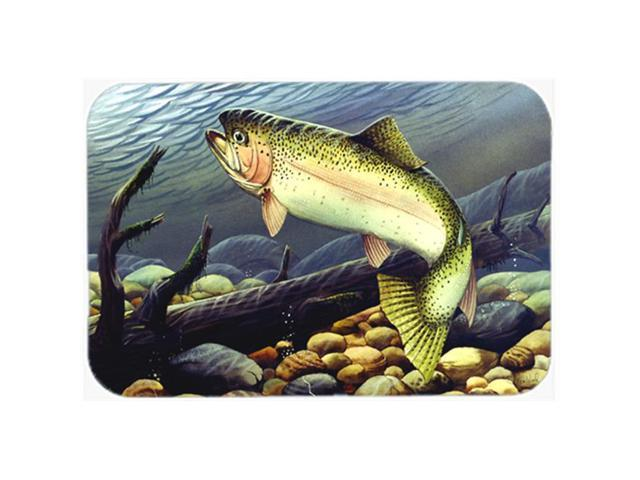 Multicolor Large Carolines Treasures Ptw2038lcb Brook Trout Glass Cutting Board Home Kitchen Kitchen Dining