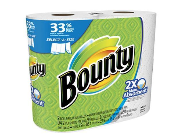 Bounty 88182 White Big Roll Select A Size White Paper Towel 2