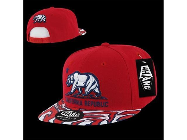 f9890c9d Decky W30-RED Ziger California Bear Snapback Cap, Red - Newegg ...