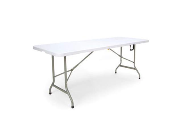 Essentials By OFM ESS 5072F 6u0027 Blow Molded Center Folding Utiity Table,