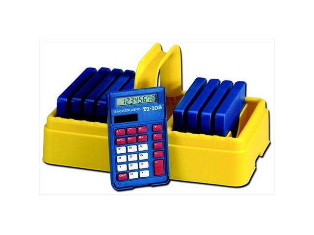 No calculators Included Texas Instruments TI-108 Solar Power Calculator Case