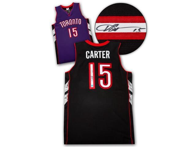 official photos 9b76c 58eea AJ Sports World CARV42900A Vince Carter Toronto Raptors Autographed Purple  Black Custom Basketball Jersey - Newegg.com