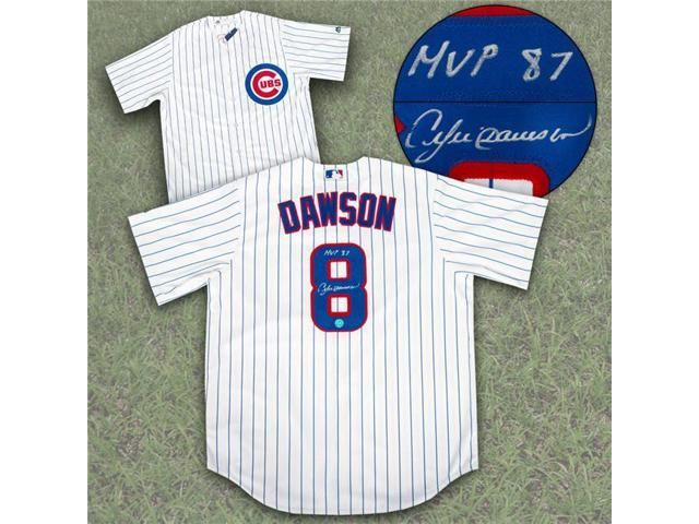 huge selection of cf315 0eaaf AJ Sports World DAWA30200A Andre Dawson Chicago Cubs Autographed Replica  Baseball Jersey with MVP 87 Note - Newegg.com