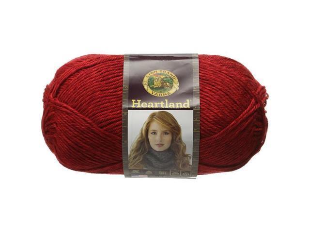 136-113 Lion Brand Heartland Yarn-Redwood