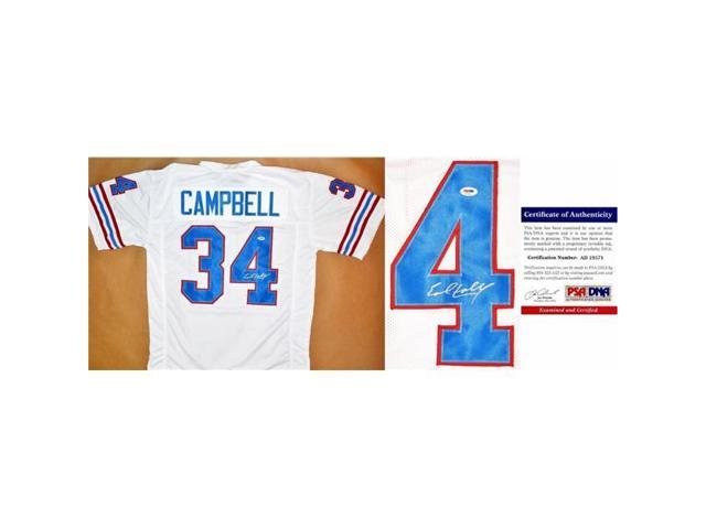 new style ba732 ef751 Real Deal Memorabilia ECampbellJ-77 Earl Campbell Autographed Houston  Oilers Custom Jersey, White - Newegg.com