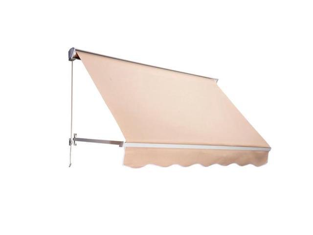 online retailer a25e1 ff263 OnlineGymShop CB15439 6 ft. Drop Arm Manual Retractable Window Awning -  Cream - Newegg.ca