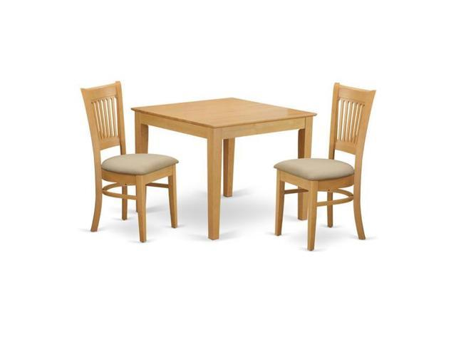 East West Furniture OXVA3-OAK-C Oxford Dining Room Kitchen Dinette Table &  2 Chairs, Oak - Newegg.com