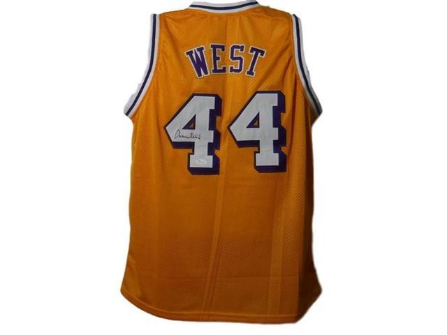 new style 4ea90 8bae3 Denver Autographs 12061 Los Angeles Lakers Size L Yellow JSA Jerry West  Autographed Jersey - Newegg.com