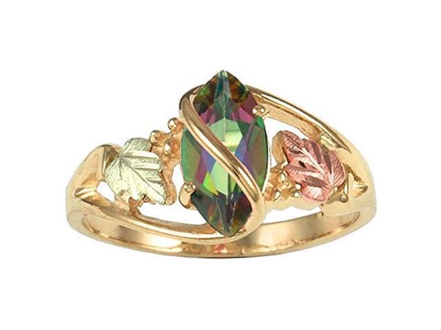 Landstrom/'s Black Hills Gold on Sterling Wedding//Anniversary Band Ring MRLLR3037
