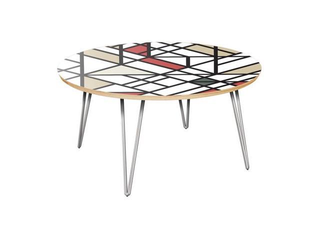 Nyekoncept 12035316 Stella Hairpin Coffee Table Organic Modernism Walnut Chrome