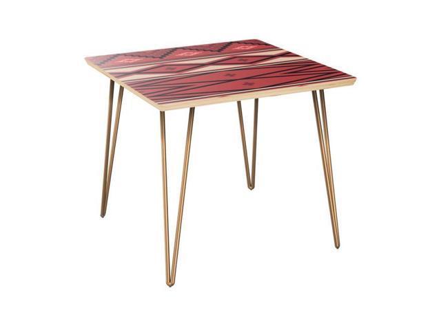 NyeKoncept 12006457 Mason Hairpin Side Table, Aztec Heat   Natural U0026 Brass    Newegg.com