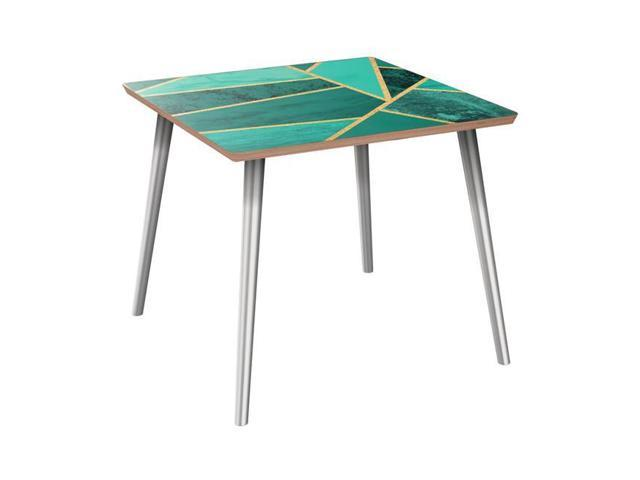NyeKoncept 12006939 Mason Flare Side Table - Emerald Envy, Walnut & Walnut  - Newegg com