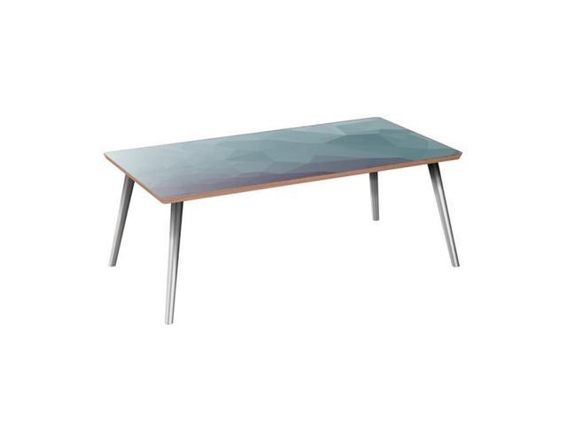 Nyekoncept 12032799 42 X 22 15 75 In Brixton Flare Coffee Table Chilly Topography Walnut Chrome