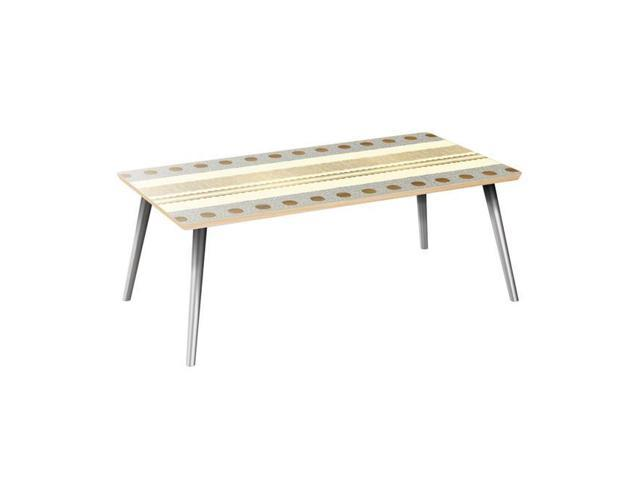 Nyekoncept 12033031 42 X 22 15 75 In Brixton Flare Coffee Table Sunny Horizons Natural Chrome