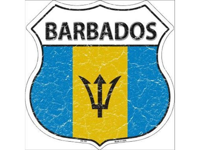 Barbados country shield flag sticker vinyl decal