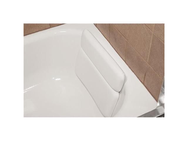 Living Health Products BB 2 Panel Bath Luxury Comfort 2 Panel Vinyl Bathtub Pillow With Relaxing Neck White