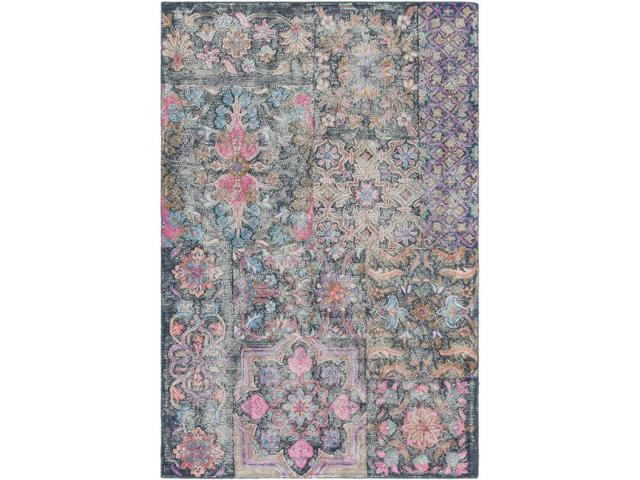 Surya AGA1000-1616 18 in  Antigua Bohemian & Global Hand Tufted Sample Area  Rug - Multicolor - Newegg com