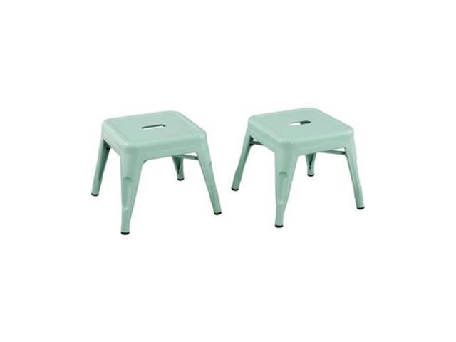 Incredible Ace Casual Furniture 255401 Kids Stool Mint Green Brown Box Pack Of 2 Newegg Com Machost Co Dining Chair Design Ideas Machostcouk
