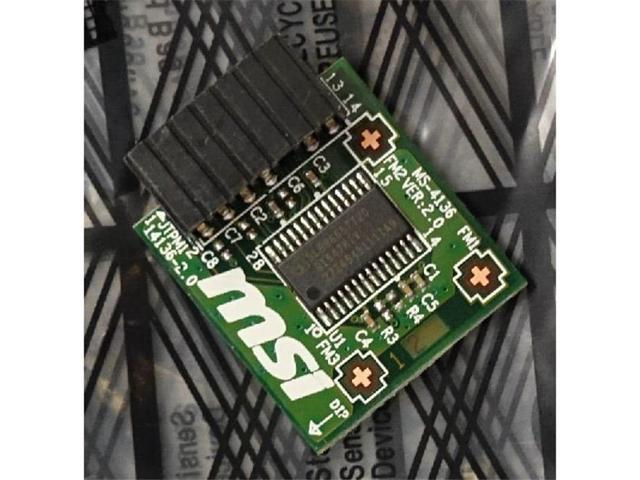 MSI Accessory TPM 2 0 Module TPM Module Infineon chip SLB 9665 TT 2 0 F W  5 51 - Newegg com