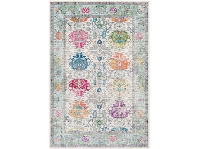 Surya ASK2308-5376 Aura Silk 5 ft  3 in  x 7 ft  6 in  Machine Made Updated  Traditional Rectangle Area Rug, Multi Color - Newegg com