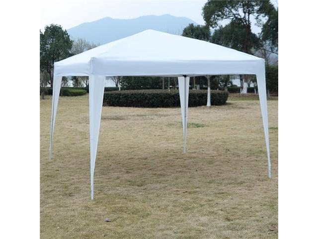 OnlineGymShop CB19150 10 x 10 ft  Outdoor EZ Pop Up Tent Gazebo Canopy -  White - Newegg ca