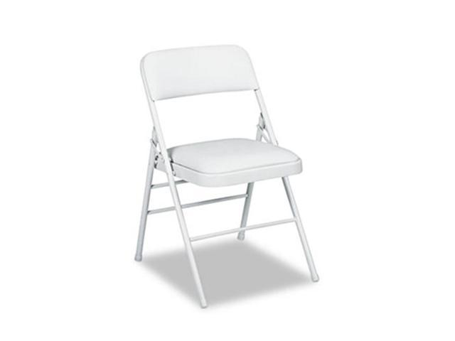 Magnificent Samsonite 60883Clg4 Deluxe Vinyl Padded Series Folding Chairs Light Gray Vinyl Frame Four Carton Newegg Com Creativecarmelina Interior Chair Design Creativecarmelinacom