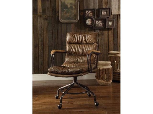 Super Benzara Bm163668 Metal Leather Executive Office Chair Vintage Whiskey Brown Ncnpc Chair Design For Home Ncnpcorg