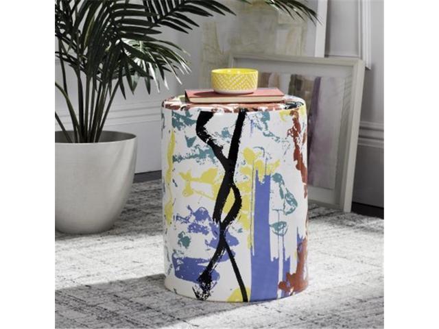 Peachy Safavieh Acs4563A Alair Garden Stool Multicolor Newegg Com Cjindustries Chair Design For Home Cjindustriesco